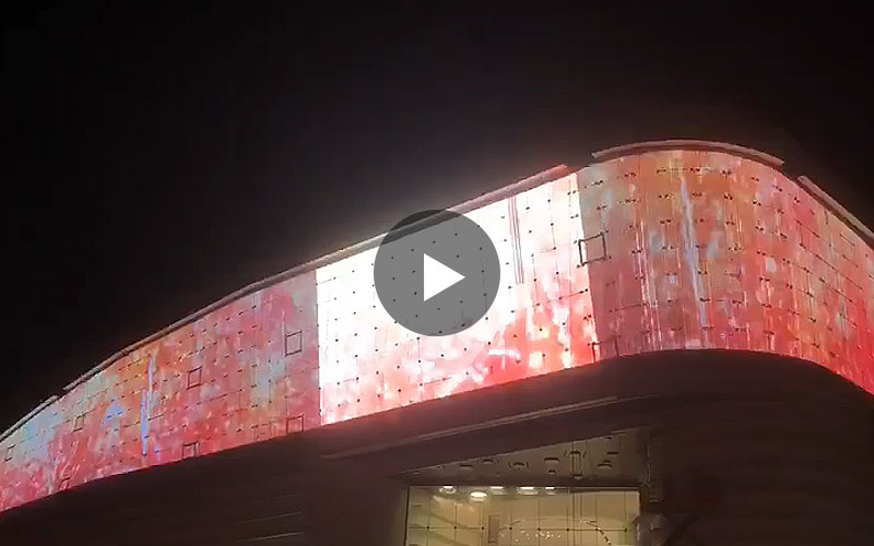 flexible mesh led screen